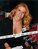 SAZZY LEE HOT & SEXY!!! SIGNED COLOR 8x10 PHOTO