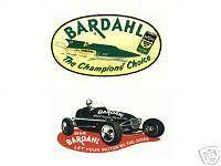 2 vintage  RATROD speed SHOP toolbox decal sticker lot