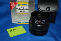 Aztec 2X telephoto lens for video camera