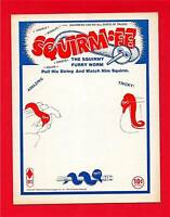 Old 10 Cent 1975 SQUIRM EE WORM Vending Machine Sign
