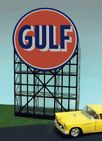 Miller's Gulf  Animated Neon Sign #6081 O/HO Scale Miller Engineering