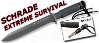 Schrade Extreme Survival Serrated Knife w/ Sheath SCHF1