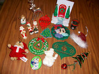 large LOT CHRISTMAS DECORATIONS baby first MICKEY deer