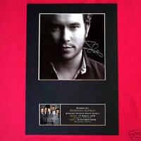 STEPHEN GATELY Boyzone Signed Autograph Mounted Photo Repro A4 Print 89