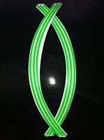 5mm wheel rim tape striping stripes stickers FLUORESCENT green.(38 piece 9 p/w)