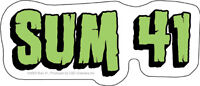 New, Genuine SUM 41 - Logo Vinyl STICKER / Decal