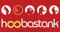 New, HOOBASTANK - Red Band Logo VINYL STICKER Decal