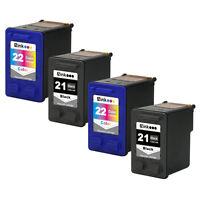 4PK HP 21 22 Ink For Deskjet D1530 D1560 D1568 D2330 F370 F390 3910 3915 3940