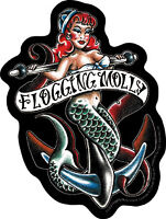 New, FLOGGING MOLLY - Mermaid VINYL STICKER Decal