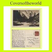 Switzerland 1927 Ambulant, pmk on 'Lutschine' postcard