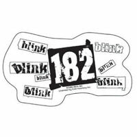 New, BLINK 182 DC Punk CLEAR Vinyl STICKER Decal