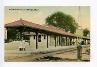 Southbridge MA Railroad Depot Train Station Postcard