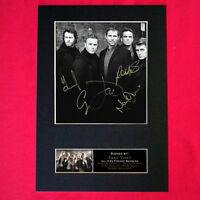 TAKE THAT with ROBBIE Signed Autograph Mounted Photo Repro A4 Print TT03 117