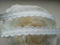 * Lace Market * 4 Metres 14mm White Satin Trim Edging Quilting Baby Trimming