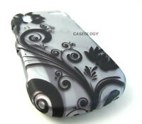 BLK SILVER VINES HARD SHELL SNAP-ON CASE COVER PANTECH HOTSHOT PHONE ACCESSORY