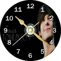 Louis Tomlinson One Direction Novelty Cd Clock Can be personalised