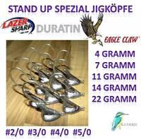 Stand Up Spezial Jigköpfe Salzwasserbeständig Eagle Claw Lazer Duratin Jigkopf
