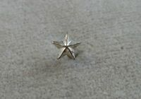 Medal And Ribbon Attachment Vintage Sterling Silver - Star Device - 1/4 Inch