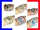 █▬█ █ ▀█▀☺►Montre design à bracelets multiple tendance 2012 femme fille fashion