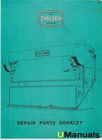 Cyril Bath Press Brake Parts Manual