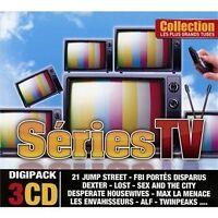 1170 // LES PLUS GRANDS TUBES  SERIES TV- COFFRET 3 CD 45 TITRES NEUF