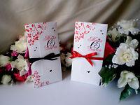 Sample Wedding Invitation Diamante Personalised Evening Invite Wallet - Ribbon