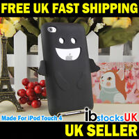 Angel Silicone Case Cute Cover For iPod Touch 4 4th Gen Fun Gift (Black)