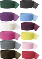 81ft Crepe Wedding Party Birthday Supplies Decorations Paper Streamer Rolls
