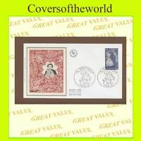 France 1980 Embroidery silk First Day Cover