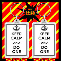 KEEP CALM AND DO ONE LARGE KEYRING kc23k