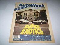 SEPT 3 1979 AUTOWEEK vintage car magazine SUPER EXOTICS