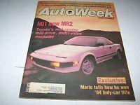 DEC 10 1984 AUTOWEEK vintage car magazine TOYOTA MR2