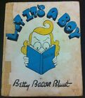 Bet It's A Boy by Betty Bacon Blunt - H/B Book 1940 - Illustrated Humour