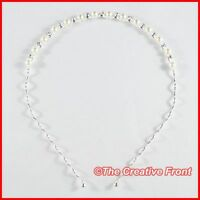 PEARL & CRYSTAL HEADBAND / ALICE BAND - Beautiful Hair Head Accessories - New