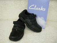 Clarks Boys SALE Nano Diffuse Black Leather School Shoes