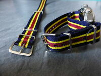 Royal Army Veterinary Corps G1098 watch strap, silver fittings, RAVC.