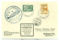 GRAF ZEPPELIN FLIGHT CARD 1931 SIEGER 102 HUNGRY C24 PRINTED CACHET.