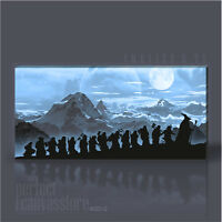 LORD OF THE RINGS - THE HOBBIT GIANT ICONIC CANVAS ART PRINT by Art Williams #06