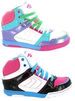New Girls Mercury Hi Top Baseball Ankle Boots Skate Dance Trainers Size 13-5 UK