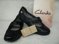 Clarks Indigo Bar Black Leather Casual Bar Shoes