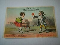 VICTORIAN TRADE CARD #A0-084 - B. T. BABBITTS SOAP
