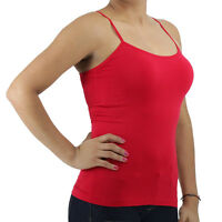 New One Size Seamless Spaghetti Strap Tank Top Cami Camisole Regular Length