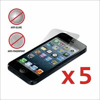 Pack of 5x Anti-Glare Matte Screen Protector for Apple iPhone 5 w/clean cloth x5