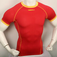 New 182 baselayer COMPRESSION skin tights top S~2XL sports shirt Red