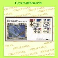 G.B. 1990 Gallantry set Benham silk official First Day Cover, Hawkhinge