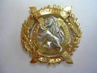New 9ct gold LONDON SCOTTISH REGIMENT Lady's Brooch. Excellent quality