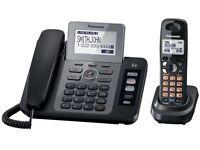 Panasonic KX-TG9471B Two-Line Expandable Corded-Cordless Phone w/ Contact Sync