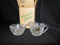 Vintage Princess House creamer and sugar bowl new in box lead crystal