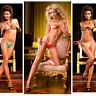 Baci Lingerie Adjustable Mesh Thong One Size Different Colors to Choose From