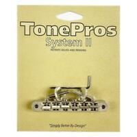 TonePros ABR1 Replacement Tune-O-Matic Bridge AVR2-AN (Aged Nickel)